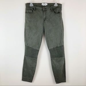 PISTOLA Audry Moto Skinny Ankle Pants Army Green